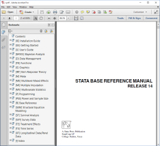 STATA TUTORIAL FOR BEGINNERS PDF
